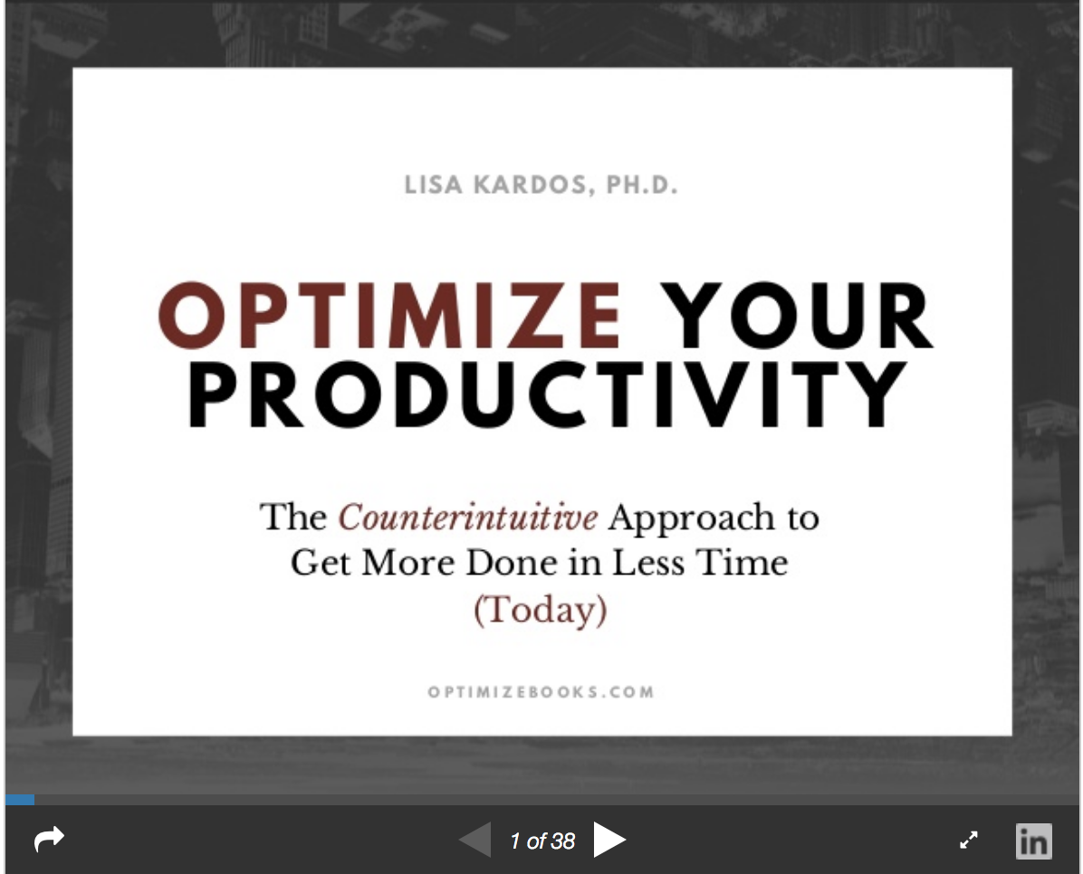 Optimize Your Productivity Slideshare